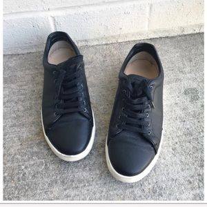 Rag & Bone Kent Black Leather Lace Up Sneakers